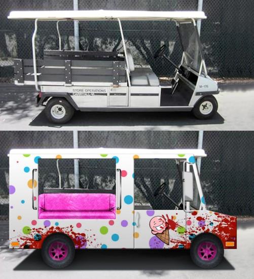 Vex FX Blog » Evil Clown Golf Cart Project